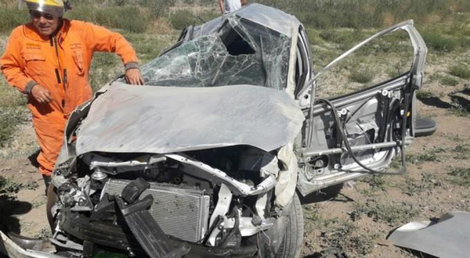 Volcó un auto en la autovía Córdoba-Río Cuarto y el conductor salió con lesiones leves