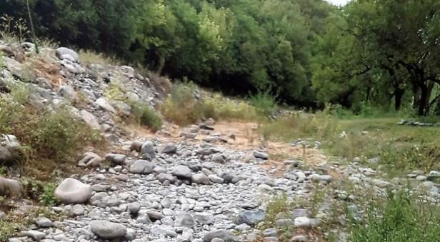 El arroyo de Cabana quedó seco