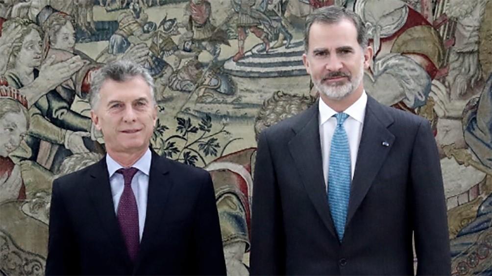 Macri se reunió con el rey Felipe VI en su segundo día de visita a España