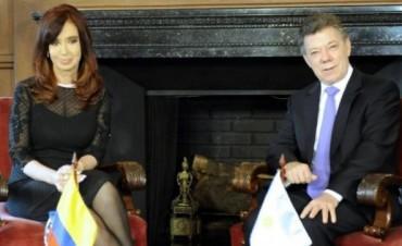 """En Colombia, Cristina firmó acuerdos """"para luchar contra el crimen organizado"""""""