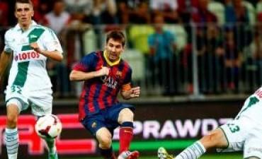 Debutó Neymar y Messi hizo el gol del empate del Barcelona