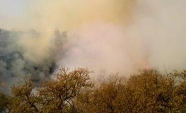 El fuego volvió a las sierras: se quema Los Hornillos