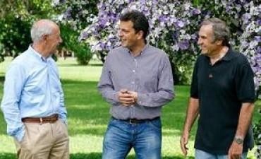 De campaña, Massa se mostró con Lavagna y Reutemann